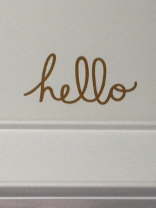 ~ Beautiful golden vinyl wall words created by my daughter