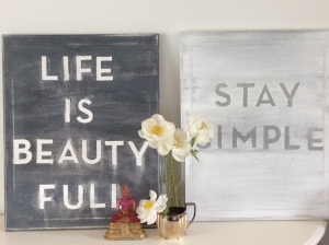 ~ subway canvas art ~ only beautiful words