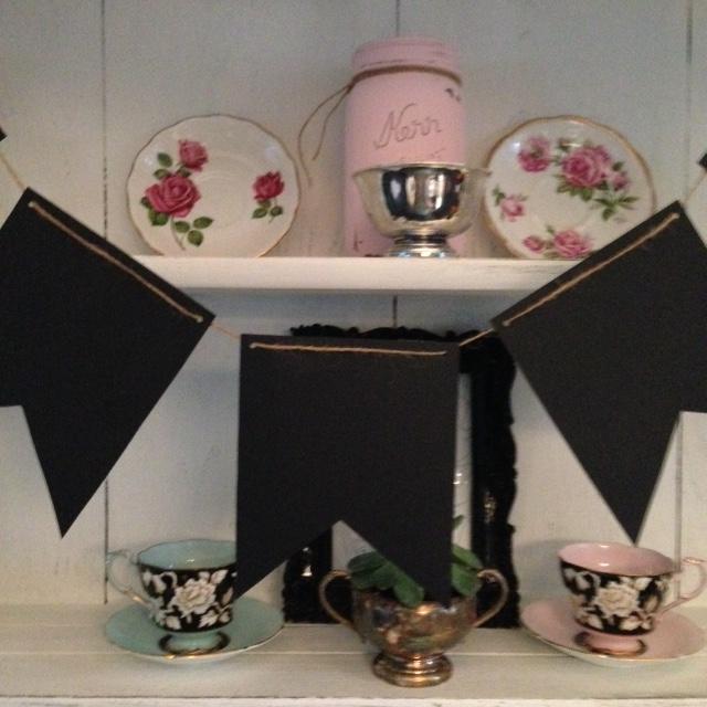 -chalkboard cardstock pennants