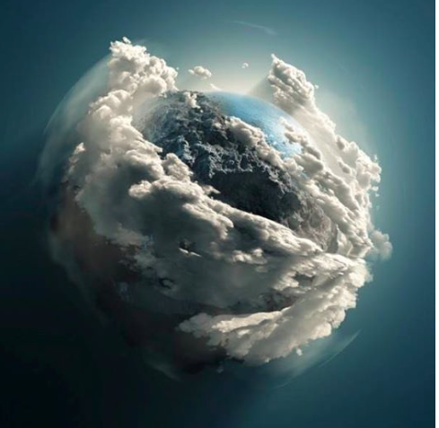 """~ """"Earth"""" as photographed from the Hubble Space Station"""