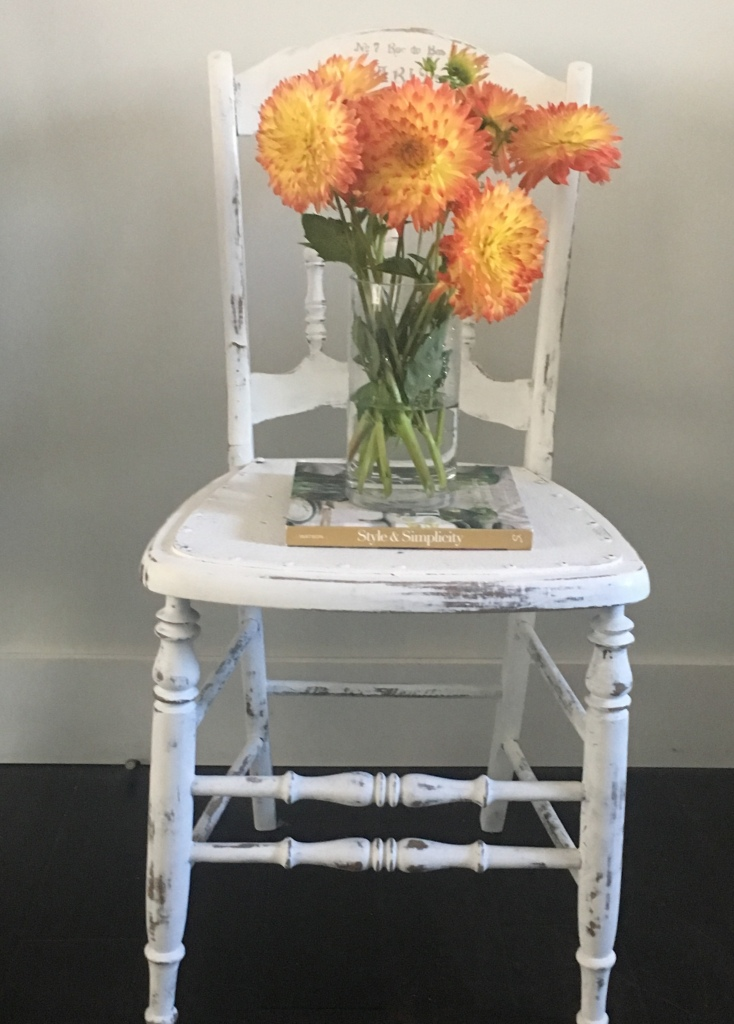 refurbished chair: annie sloan chalk paint